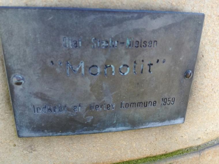 """Olaf Stæhr-Nielsen  """"Monolit"""""""