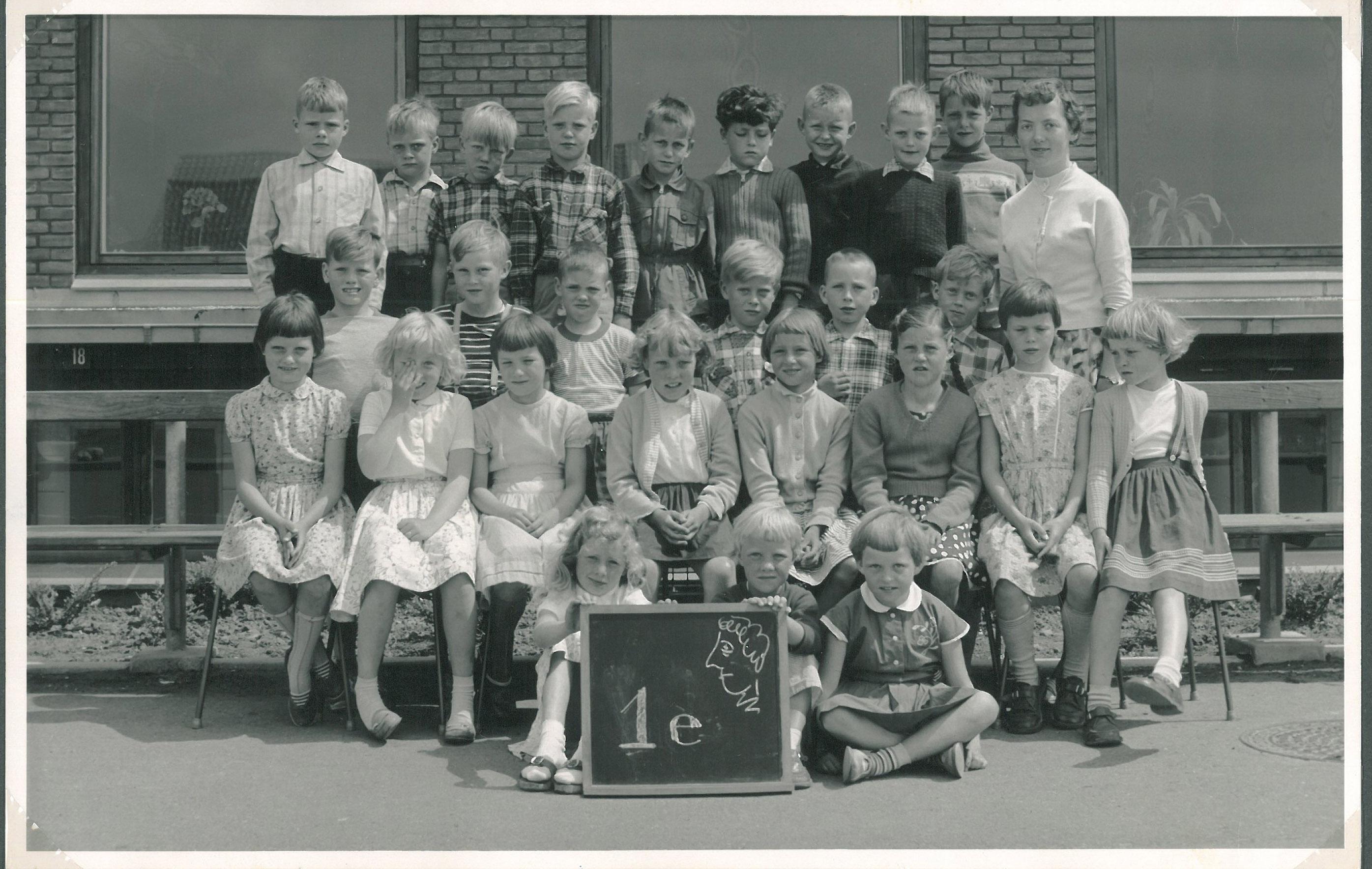 Skolebillede fra Borgerdigeskolen foråret 1959