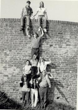 Opstilling ved Gamle Hald Slotsruin september 1969