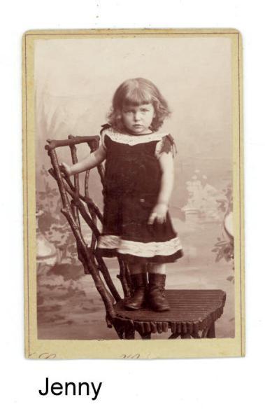 Tante Jenny Emilies datter som tre-årig
