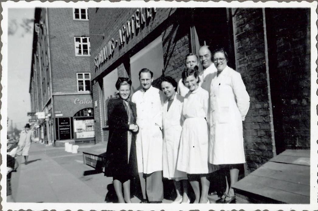 Personale fra Sydhavnsapoteket under krigen